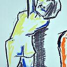 Nude female sketch #1 by bjorksboy