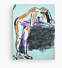 Nude female sketch #2 Canvas Print