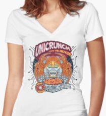 Unicrunch Women's Fitted V-Neck T-Shirt