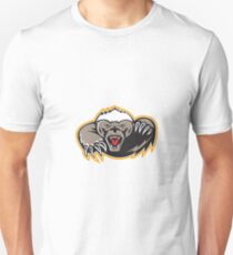 Honey Badger Mascot Claw Unisex T-Shirt