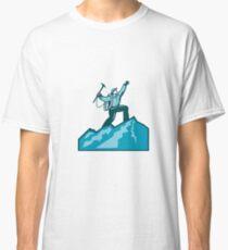 Mountain Climber Summit Retro Classic T-Shirt