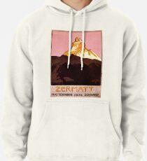 Vintage Matterhorn Mountain  Pullover Hoodie