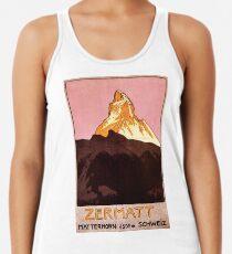 Vintage Matterhorn Mountain  Racerback Tank Top