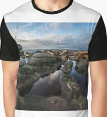 Late Afternoon on Stanage Edge Graphic T-Shirt