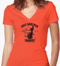 osama bin laden Women's Fitted V-Neck T-Shirt