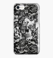 Butterfly lace skull pattern.  iPhone Case/Skin