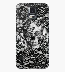 Butterfly lace skull pattern.  Case/Skin for Samsung Galaxy