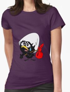 Sad black chicken Womens Fitted T-Shirt