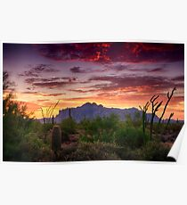 A Superstition Sunrise  Poster