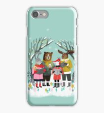 Woodland Christmas Carols by Andrea Lauren  iPhone Case/Skin
