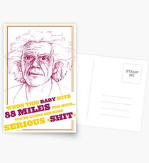 BACK TO THE FUTURE- DOC BROWN Postcards