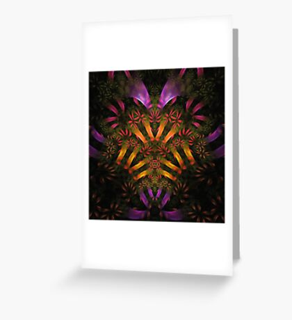 """Heart of the Jungle"" (square) Greeting Card"