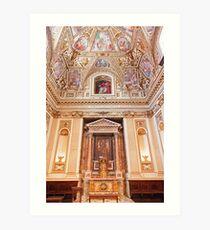 The Golden Altar Art Print