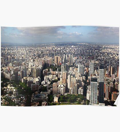 Down Town Buenos Aries Aerial Poster