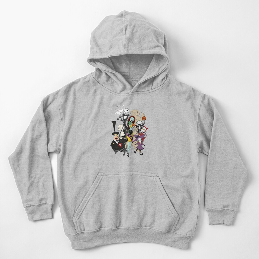 the nightmare before christmas Kids Pullover Hoodie