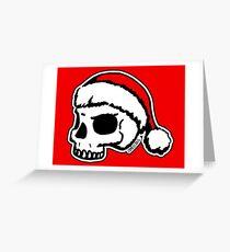 Santa Skull Christmas Greeting Card