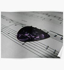 Guitar Pick & Music Poster