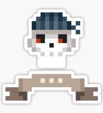 Pixel Pirate Skull Sticker