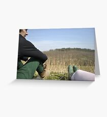 Looking over to Snape wood Greeting Card