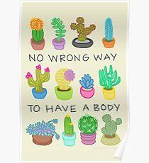 Kein falscher Weg, um einen Körper zu haben Poster