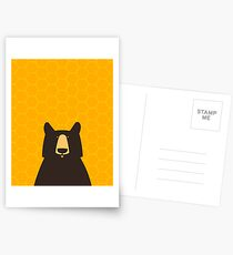 Black Bear Honeycomb Postcards