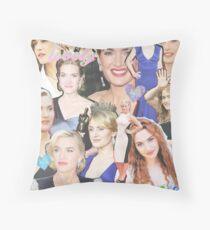 kate winslet collage Throw Pillow