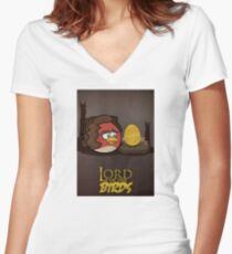 Lord of the Birds - Frodo Women's Fitted V-Neck T-Shirt