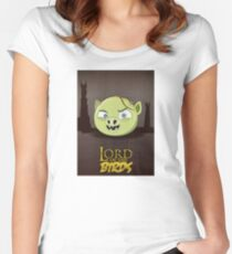 Lord of the Birds - Gollum Women's Fitted Scoop T-Shirt