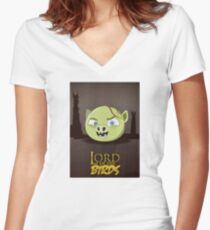 Lord of the Birds - Gollum Women's Fitted V-Neck T-Shirt