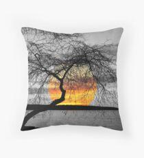 English Bay Sunset Throw Pillow