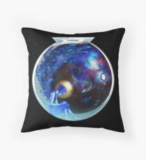 Fresh Static Snow - Lapis Lazuli Throw Pillow