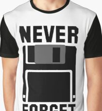Floppy Disk Never Forget Graphic T-Shirt
