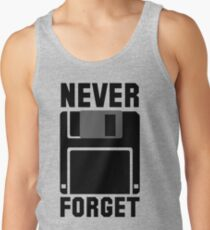 Floppy Disk Never Forget Tank Top