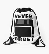 Floppy Disk Never Forget Drawstring Bag