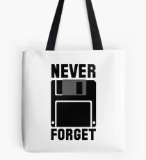 Floppy Disk Never Forget Tote Bag