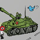 Chine vs Social Media caricature by Binary-Options