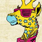 Funky CMYK Giraffe by giovonni808