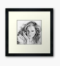 Emma Watson sketch Framed Print