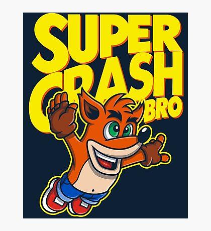 Super Crash Bro Photographic Print