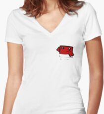 Super meat boy (in your pocket) Women's Fitted V-Neck T-Shirt
