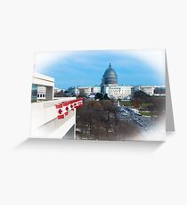 U.S. Capital and Canadian Embassy Greeting Card