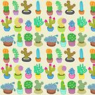 Succulents and Cacti by Rachele Cateyes
