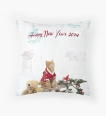 Merry Christmas and Happy New Year Throw Pillow