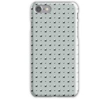 Studded Double Polka Stud on Slate Green Mist 1@50 iPhone Case/Skin