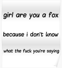 Are You a Fox? Poster Poster