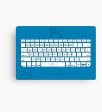 Photoshop Keyboard Shortcuts Blue Tool Names Canvas Print