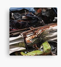 Complete with under-body protection Canvas Print