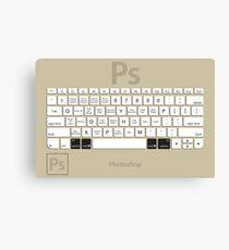 Photoshop Keyboard Shortcuts Brwn Opt+Cmd Canvas Print