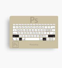 Photoshop Keyboard Shortcuts Brwn Opt+Shift Canvas Print