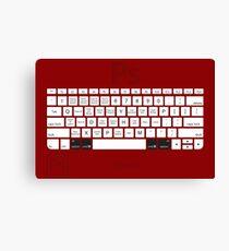 Photoshop Keyboard Shortcuts Red Opt+Cmd Canvas Print